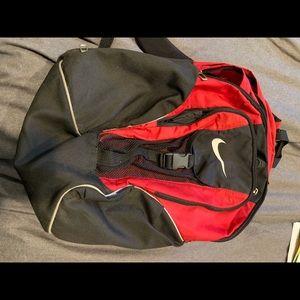 Red/black nike backpack